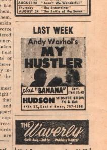 VV Aug 17, 1967 Warhol